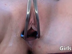Gyno dildo and pussy gapped...