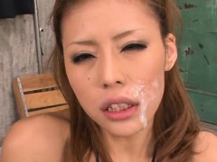 Lovely asian enjoys wild...