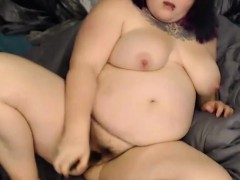 Filthy mouthed BBW gal with...