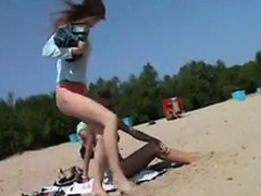 Teen Nudist At The Beach