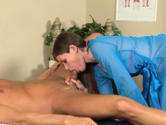 Sexy masseuse jizz faced