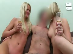 Two hot blondies ass sex on...