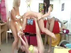 Horny college girls riding...